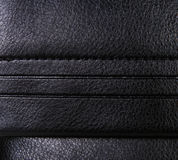 Black leather background with margins, rough pattern. Black leather background with margins Stock Images