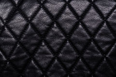 Black leather background Royalty Free Stock Photography
