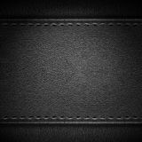 Black leather background. Or rough pattern grey texture Stock Images