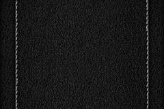Black leather background Stock Photos