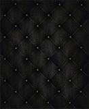 Black Leather Background Stock Photography