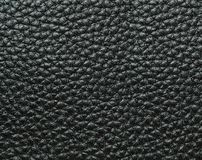 Black Leather Background Texture. Space for Text Royalty Free Stock Images