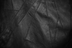 Black leather background. Or texture Stock Images