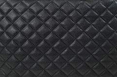 Black leather background / texture Royalty Free Stock Photos
