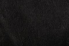 Black leather, a background. Or texture Royalty Free Stock Photography