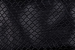 Black leather, a background. Or texture Stock Photo