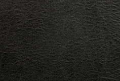 Black leather background or texture. Abstract Royalty Free Stock Images