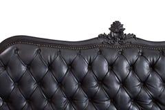 Black leather backrest Royalty Free Stock Image