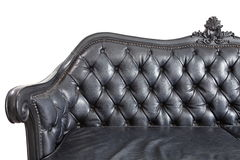 Black leather backrest Royalty Free Stock Photos