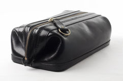 Black leather bag Stock Photos