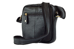 Black leather bag Royalty Free Stock Images