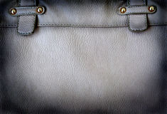A black leather bag background Stock Photo