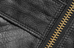 Black leather bag detail Royalty Free Stock Image