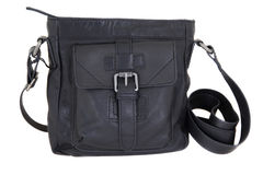 Black leather bag Royalty Free Stock Image
