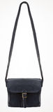 Black Leather Bag with one clasp Stock Photos