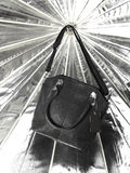 Black Leather bag Royalty Free Stock Photo