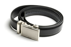 Black leather belt Stock Photo