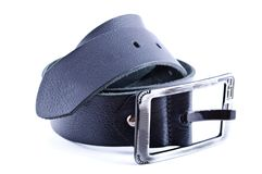 Black leather belt Royalty Free Stock Photos