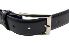 Black leather belt Royalty Free Stock Photography