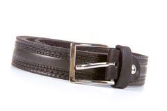 Black leather belt Royalty Free Stock Photo