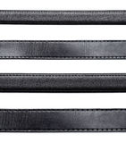 Black leather belt stock photography
