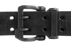 Black leather belt Stock Photos