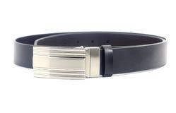 Black leather belt Stock Photography