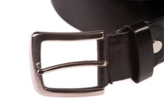 Black leather belt Royalty Free Stock Image
