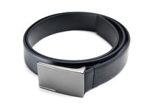Black leather belt Royalty Free Stock Images