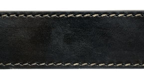 Black leather belt closeup Royalty Free Stock Photo