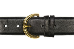 Black Leather Belt Stock Photo