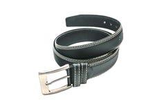 Black leather belt isolated Stock Photos