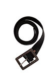 Black leather belt Stock Images