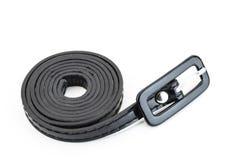 Black leather belt Stock Photos