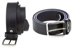 Black leather belt Royalty Free Stock Image