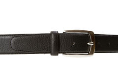 Black leather belt Stock Images