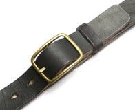 Black leather belt  Stock Image