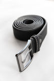 Black Leather Belt Winding Royalty Free Stock Photo