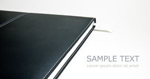 Black leather book Royalty Free Stock Photos