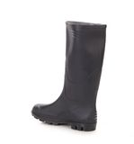 Black leather boot. Royalty Free Stock Photography