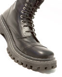 Black leather boots Royalty Free Stock Image