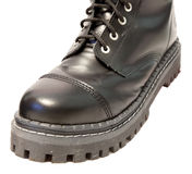Black leather boots Royalty Free Stock Photo
