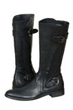 Black leather boots Stock Image