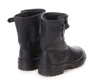 Black leather boots. Stock Photography