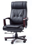 Black Leather Boss Chair Royalty Free Stock Photos