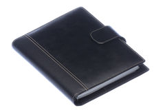 Black Leather Bound Diary Isolated Royalty Free Stock Photo