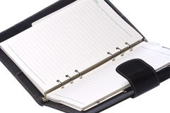 Black Leather Bound Notebook Isolated Royalty Free Stock Photo