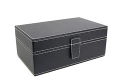 Black leather box Royalty Free Stock Image