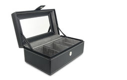 Black leather box Stock Photography