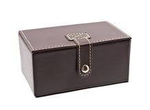 Black leather box Royalty Free Stock Photos